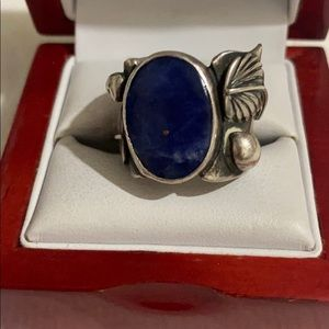 Sterling s lapis lazuli stone vintage Navajo ring